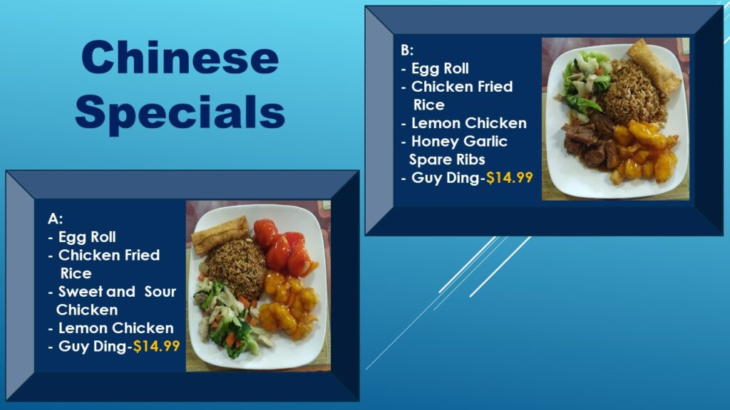 Chinese Specials
